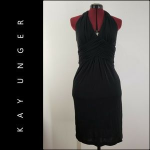 Kay Unger Woman Backless Dress Size 6 Nwt Black